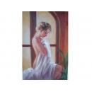 窗邊少女-y11176-畫作系列-油畫-油畫人物