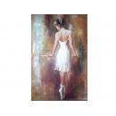 舞蹈題材-芭蕾少女背影-y11177-畫作系列-油畫-油畫人物