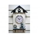 湖畔假期壁鐘時鐘掛勾 y11187 時鐘.溫度計.鏡子 溫度計.壁掛鐘 地中海.鄉村風系列-湖畔假期壁鐘時鐘掛勾