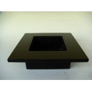 y11233 木製花器-鋼琴烤漆-方盒花器-黑(白)