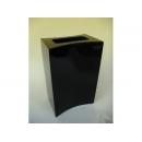y11235 木製花器-鋼琴烤漆-內凹書本花器-黑(白)
