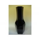 y11247 花器系列-木製花器-大六角花器-鋼琴烤漆-黑(白)