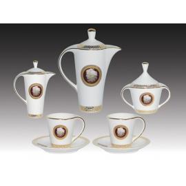 y11268 餐茶玻璃系列- 簡歐新磁瓷器-花莎馳15件茶具組