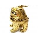 y11341 銅雕系列-動物-金色神獸貔貅