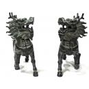 y11344 銅雕系列-動物-神獸麒麟(一對)