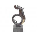 y11347 銅雕系列-動物-圓雞(小)*