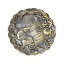 y11353 銅雕系列-動物-龍虎器皿
