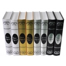 y11356-樣品書電視道具系列-厚書皮樣品書(白.金.銀.黑.咖啡)單本