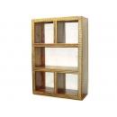 y11371 傢俱系列-印度傢俱-銅邊三層五格架