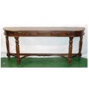 y11374 傢俱系列-印度傢俱-橢圓長玄關桌