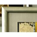 y11433 裝框裱褙相框系列-裱框作品參考-沐水年華(金框)