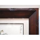 y11437 裝框裱褙相框系列-裱框成品參考-幾合紋樣咖啡色框