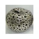 電鍍擺飾- 陶瓷鏤空蘋果 y11449 立體雕塑.擺飾 電鍍擺飾系列--無庫存