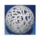 陶瓷鏤空球-大(小) y11452 立體雕塑.擺飾 立體擺飾系列-幾何、抽象系列
