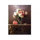 y11489 畫作系列-油畫花系列-靜物瓶花 (維多利亞風格)