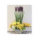 y11506 花藝設計-花藝佈置-人造花百合花造型盆花