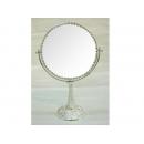 銀圓雙面鏡 y13459 時鐘.溫度計.鏡子 鏡子 銀圓雙面鏡-大(小)