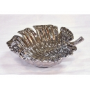 y11535 餐茶玻璃-餐具用品/配件-4045A 銀葉子果盤(4044A銀葉子果盤)
