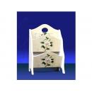 y11565 傢俱系列 木製白茶花系列傢俱  2層雜誌架
