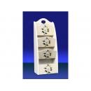 y11566 傢俱系列 木製白茶花系列傢俱   4層雜誌架