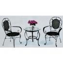 y11628 傢俱系列-戶外休閒傢俱-60cm圓茶几+餐椅2張