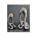 電鍍擺飾-銀抽象桌飾 /一對 y11637 立體雕塑.擺飾 電鍍擺飾系列--無庫存