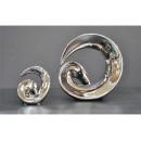 電鍍擺飾- 銀迴旋桌飾/ 一對 y11640 立體雕塑.擺飾 電鍍擺飾系列(缺貨中)