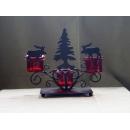 y11682 耶誕麋鹿三杯紅燭臺(售完為止)