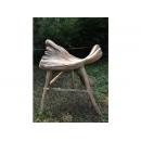 y11704 漂流木風化傢俱-檜木造型椅