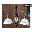 y11708 鄉村燈飾-鄉村玻璃花罩吊燈 ES8801-3