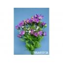 y11728 花藝設計-精緻人造花-三角桔梗花束 粉紅 (共5色)