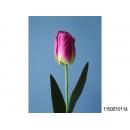 y11743 花藝設計-精緻人造花-刷色鬱金香 紫/枝 (共7色)