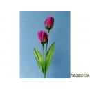 y11763 花藝設計-精緻人造花-刷色鬱金香 紫(共4色)