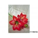 y11801 花藝設計-精緻人造花-皺紋孤挺花 紅/枝(共5色)