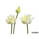 y11825 花藝設計-精緻人造花-荷花 白 (共3色)