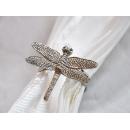 y11834 餐茶玻璃-餐具用品/配件-餐巾環-蜻蜓(玫瑰)