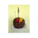 y11862 花藝設計-水果、餅乾、蛋糕配件類-巧克力蛋糕名片夾(兩款)