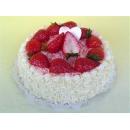 y11863 花藝設計-水果、餅乾、蛋糕配件類-草莓奶油蛋糕