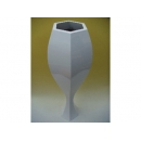 y11872 花藝設計-六角酒杯花器 白色 (三款單賣)