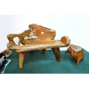 y11873 漂流木風化傢俱-柚木雙人椅(已售)