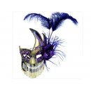 y11897 聖誕節-流蘇面具-紫金色(黑金色)
