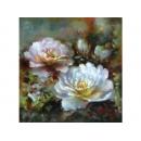 y11904 畫作系列-油畫花-牡丹 (玫瑰)