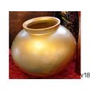 y11934 花器系列-玻璃花器-西班牙金色花瓶