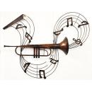 y11950 鐵材藝術(立體壁飾)-喇叭音符壁飾