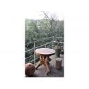 y11961 漂流木風化傢俱-圓桌