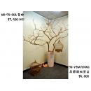 y11970 花器系列-高圓筒貼瓷盆、(金樹/枝)