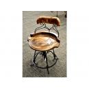 y11975 傢俱系列-印度傢俱-芒果木旋轉椅