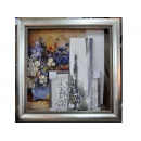 y12005 裝框裱褙相框系列-裱框成品參考-銀箔框