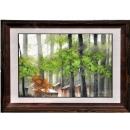 y12016 裝框裱褙相框系列-裱框成品參考-咖啡色框