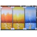 y12017 裝框裱褙相框系列-裱框成品參考-銀箔框
